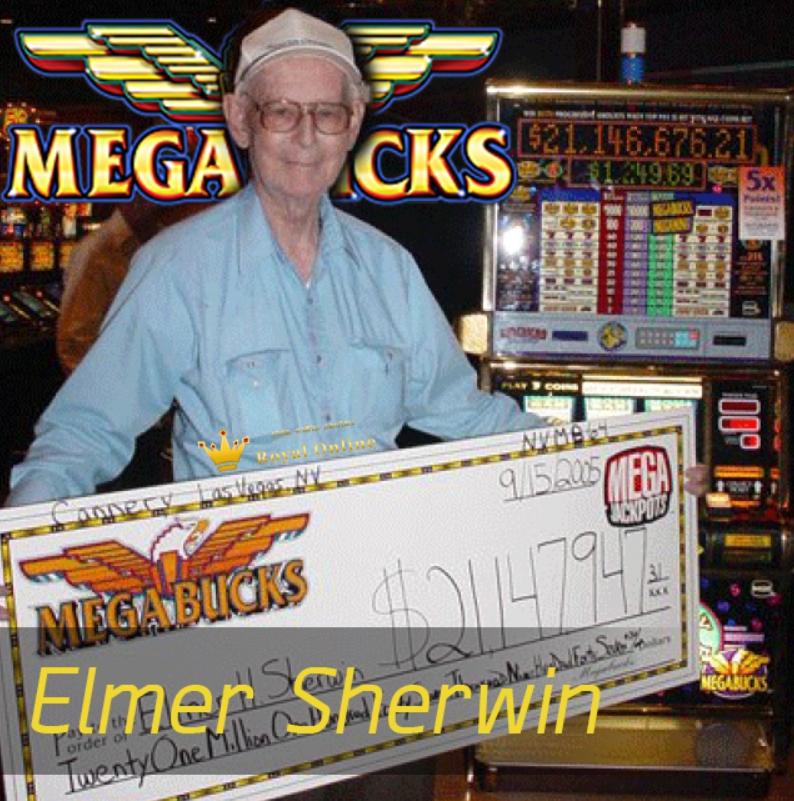 เอลเมอร์ เชอร์วิน (ELMER SHERWIN) ผู้เล่นสล็อตเกมส์จนแจ็คพ๊อตแ